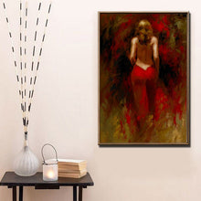 Load image into Gallery viewer, Beautiful Girl  Wall Art Canvas Painting - SallyHomey Life's Beautiful