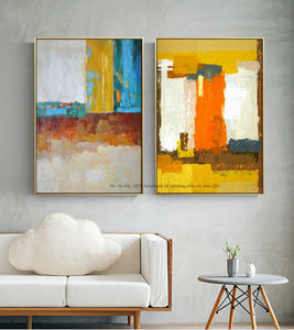 Abstract painting large canvas wall art tableau decoration murale salon wall pictures for living room modern oil painting - SallyHomey Life's Beautiful