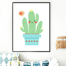 Load image into Gallery viewer, Cartoon Abstract Cute Succulent Cactus Wall Art Canvas Painting Nordic Posters And Prints Wall Pictures Baby Kids Room Decor - SallyHomey Life's Beautiful