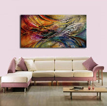 Load image into Gallery viewer, 100% Hand Painted Modern Abstract Oil Paintings Home Wall Art Canvas Set With Red White Geometric Artwork For Living Room Decor - SallyHomey Life's Beautiful
