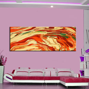 Modern Abstract Oil Painting Like Volcanic Canvas Painting Watercolor Poster Wall Painting Art for Living Room Home Decoration - SallyHomey Life's Beautiful