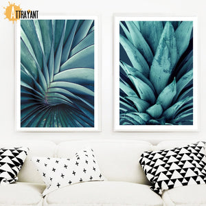 Tropical Flesh Plant Agave Pineapple Wall Art Canvas Painting Nordic Posters And Prints Wall Pictures For Living Room Home Decor - SallyHomey Life's Beautiful