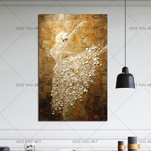 Load image into Gallery viewer, Handmade Paintings Ballet Dancer Pictures Hand Painted Abstract Knife Oil Painting On Canvas Wall Art For Living Room Home Decor - SallyHomey Life's Beautiful