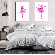 Load image into Gallery viewer, 🔥Abstract Art Canvas Painting Pink Ballerina Canvas Art Print Poster For Living Room Wall Picture Home Decor Gift - SallyHomey Life's Beautiful