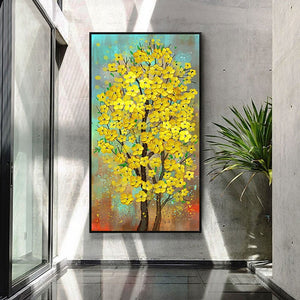 100% Hand Painted Abstract Flower Tree Art Painting On Canvas Wall Art Wall Adornment Pictures Painting For Live Room Home Decor