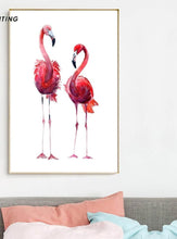 Load image into Gallery viewer, Watercolor Bird Flamingo Wall Art Canvas Posters and Prints Nordic Style Painting Decorative Picture Home Bedroom Decoration - SallyHomey Life's Beautiful