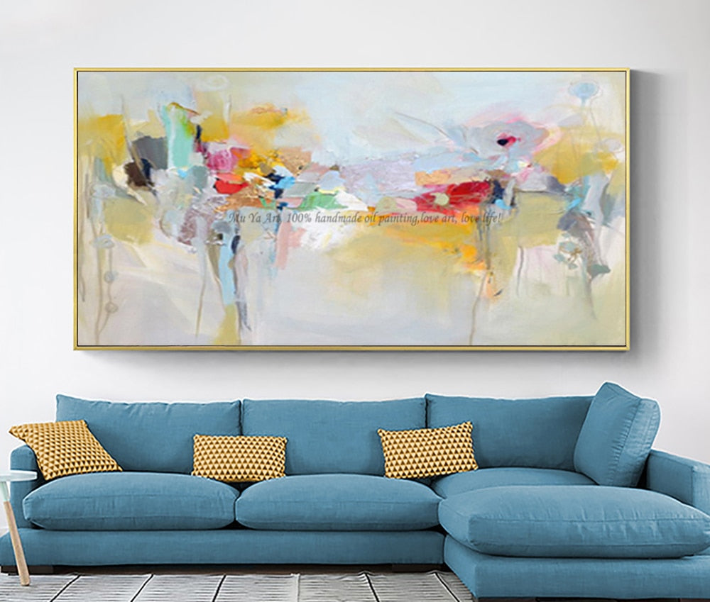 Large canvas wall art acrylic painting modern paintings wall painting hand painted canvas oil painting wall pictures for bedroom - SallyHomey Life's Beautiful