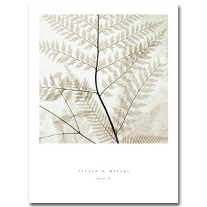 Nordic Decoration Vintage Poster Leaves Plant Wall Art Canvas Prints Minimalist Painting Wall Picture for Living Room Home Decor - SallyHomey Life's Beautiful