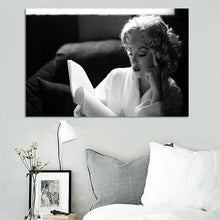 Load image into Gallery viewer, Modern Portrait Posters and Prints Wall Art Canvas Painting Marilyn Monroe Reading Decorative Paintings for Living Room Decor - SallyHomey Life's Beautiful