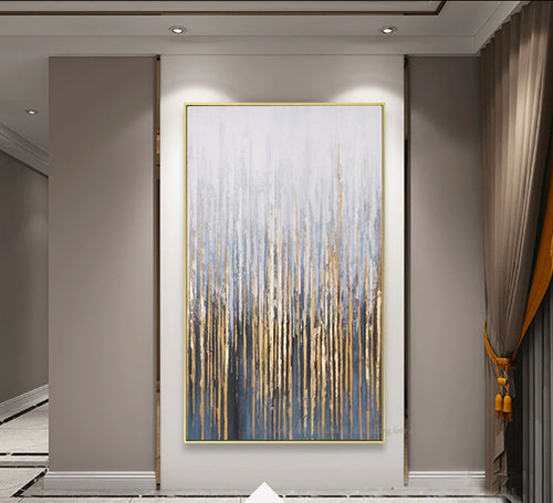 Large wall painting on canvas vertial abstract art decorative pictures for living room wall - SallyHomey Life's Beautiful