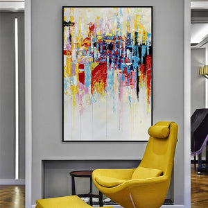 Wall art pictures for living room large abstract painting canvas wall art tableau peinture sur toile oil picture for bedroom - SallyHomey Life's Beautiful