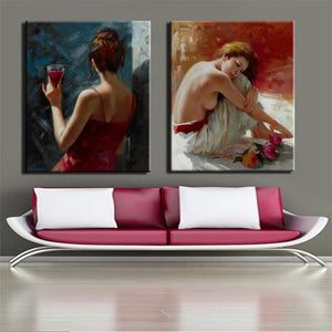 Beautiful Girl  Wall Art Canvas Painting - SallyHomey Life's Beautiful