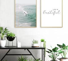 Load image into Gallery viewer, Scandinavian Tropical Decoration Sea Leaf Canvas Poster Landscape Nordic Style Wall Art Print Nature Painting Decorative Picture - SallyHomey Life's Beautiful
