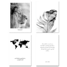 Load image into Gallery viewer, Scandinavian Black White Poster Nordic Canvas Wall Art Print Africa Animal Lion Painting Decorative Picture Home Decoration - SallyHomey Life's Beautiful