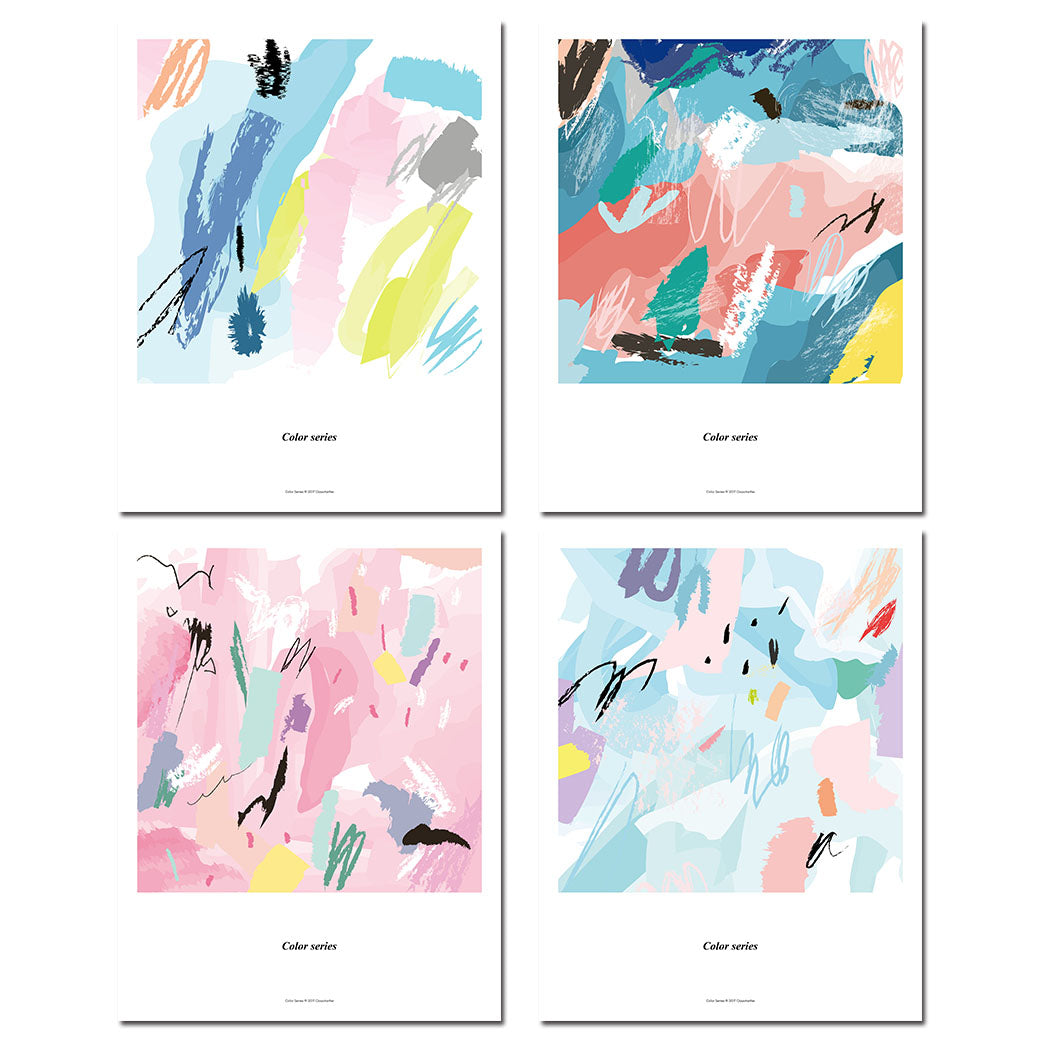 Watercolor Color Blocks Art Canvas Posters Abstract Prints Painting Nursery Wall Art Pictures Children Bedroom Decoration - SallyHomey Life's Beautiful