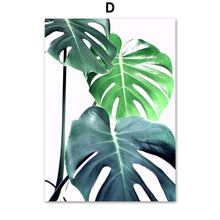 Load image into Gallery viewer, Tropical Monstera Leaf Plant Nordic Posters And Prints Wall Art Canvas Painting Scandinavian Wall Pictures For Living Room Decor - SallyHomey Life's Beautiful