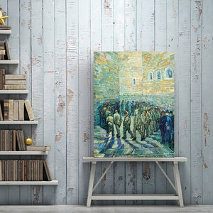 Impressionist Famous Painting Vincent van Gogh's Prisoner Poster Print on Canvas Wall Art Painting for Living Room Home Decor - SallyHomey Life's Beautiful