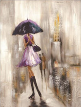Load image into Gallery viewer, Modern Abstract Portrait Posters and Prints Wall Art Canvas Painting The Umbrella Girl Decorative Pictures for Living Room Decor - SallyHomey Life's Beautiful