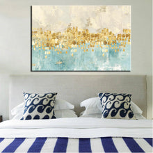 Load image into Gallery viewer, 70x100cm Modern Abstract Gold Money Sea Wave Poster Print on Canvas - SallyHomey Life's Beautiful