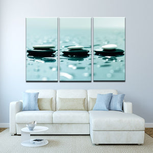 Chinese Artistic Conception Canvas Painting HD Print Stone in the Water Poster Wall Art Picture Living Room Home Decor Frameless - SallyHomey Life's Beautiful