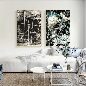 Classical abstract Line Handprint Decorative Canvas Painting Posters and Prints Wall Art Pictures for Living Room Nordic Decor - SallyHomey Life's Beautiful