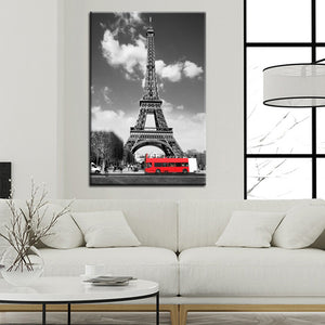 Eiffel Tower in Paris Poster Wall Picture - SallyHomey Life's Beautiful