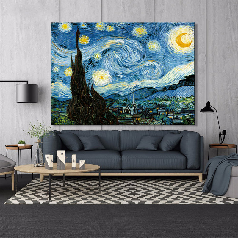 Van Gogh Starry Night canvas printing for living room - SallyHomey Life's Beautiful