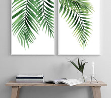 Load image into Gallery viewer, Scandinavian Watercolor Leaf Canvas Nordic Posters and Prints Green Plant Wall Art Painting Decorative Picture Modern Home Decor - SallyHomey Life's Beautiful