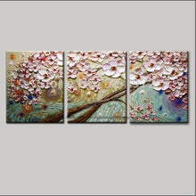 Load image into Gallery viewer, Modern paintings acrylic flower Painting decorative canvas painting abstract art palette knife painting for living room bedroom - SallyHomey Life's Beautiful