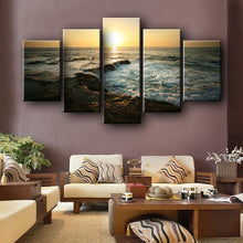 Load image into Gallery viewer, Modern Landscape Posters and Prints on Canvas Wall Art Decoration Canvas Painting Sunrise at Sea Pictures For Living Room Wall - SallyHomey Life's Beautiful