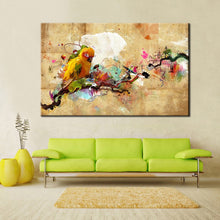 Load image into Gallery viewer, Modern Abstract ColorfuL Parrot Bird Oil Canvas Painting on Canvas Print Poster Wall Picture for Living Room Home Decor Gift - SallyHomey Life's Beautiful