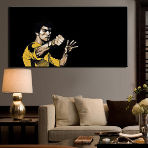 Bruce Lee Poster Digital Printed Wall Pictures No Frame - SallyHomey Life's Beautiful