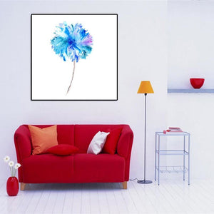 Nordic Modern Abstract Watercolor Canvas Painting Handmade Flowers Oil Painting Wall Art Pictures For Living Room Home Decor - SallyHomey Life's Beautiful