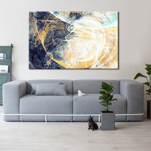 Abstract Canvas Painting Wall Art Poster and Prints Wall Decor - SallyHomey Life's Beautiful
