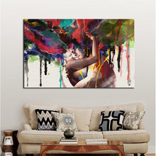 Load image into Gallery viewer, Abstract Watercolor Hand Painted Lover Pictures for living Room Wall - SallyHomey Life's Beautiful