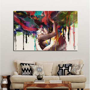 Abstract Watercolor Hand Painted Lover Pictures for living Room Wall - SallyHomey Life's Beautiful