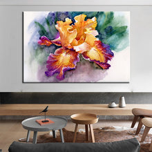 Load image into Gallery viewer, Posters and Print Wall Art Canvas Painting Wall Decoration Colorful Abstract Garden Iris Pictures for Living Room Wall Frameless - SallyHomey Life's Beautiful