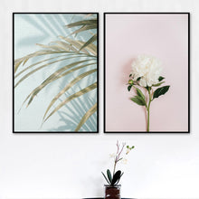 Load image into Gallery viewer, Palm Leaf White Flower Quotes Landscape Wall Art Canvas Painting Nordic Posters And Prints Wall Pictures For Living Room Decor - SallyHomey Life's Beautiful
