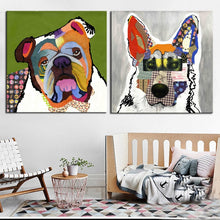 Load image into Gallery viewer, Modern Abstract Art Posters and Prints Wall Art Canvas Painting Colorful Pet Dogs Decorative Pictures For Living Room Home Decor - SallyHomey Life's Beautiful