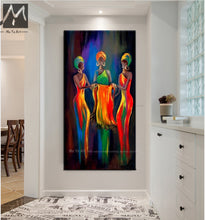 Load image into Gallery viewer, Abstract painting canvas vertical oil painting on canvas african paintings decorative pictures for living room handmade - SallyHomey Life's Beautiful
