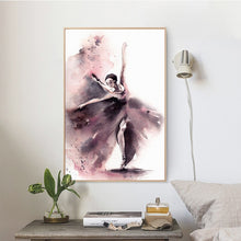 Load image into Gallery viewer, Abstract Watercolor Posters And Prints Wall Art Canvas Painting Dancing Girl Pictures Wall Decor For Living Room Wall Frameless - SallyHomey Life's Beautiful