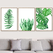 Load image into Gallery viewer, Banana Leaf Maple Ferns Green Leaf Wall Art Canvas Painting Nordic Posters And Prints Plants Wall Pictures For Living Room Decor - SallyHomey Life's Beautiful