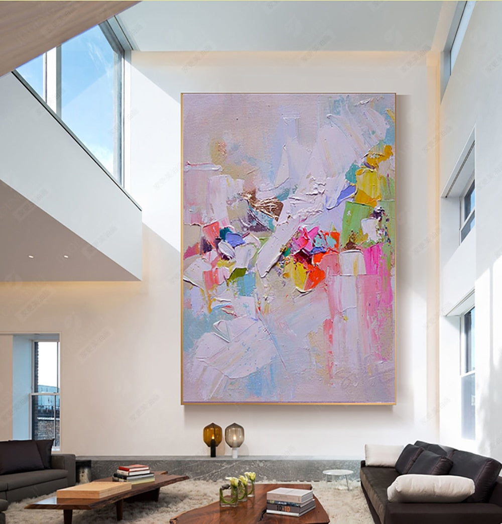 Hand painted canvas oil painting abstract wall art abstract paintings for living room wall laminas de cuadros pared decorativas - SallyHomey Life's Beautiful