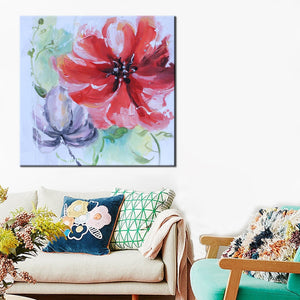 70x70cm Modern Hand Paint Flowers Poster Prints on Canvas - SallyHomey Life's Beautiful