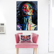 Load image into Gallery viewer, Abstract Colorful Women Pictures for Living Room Home Decor No Frame - SallyHomey Life's Beautiful