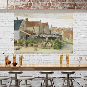 Netherlands Painter Van Gogh - Drying House at Scheveningen Poster Print on Canvas Wall Art Painting for Living Room Home Decor - SallyHomey Life's Beautiful