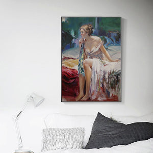 Modern Women Portrait Wall Art Decorative Paintings - SallyHomey Life's Beautiful