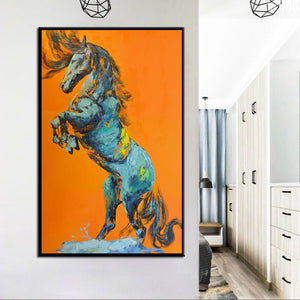 🔥Large Size Posters and Prints Wall Art Canvas Painting Hand Painted Abstract Horse Pictures For Living Room Home Decor Frameless - SallyHomey Life's Beautiful