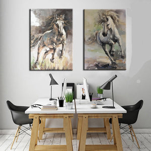 Running Horse Animal  Wall Art Decor - SallyHomey Life's Beautiful