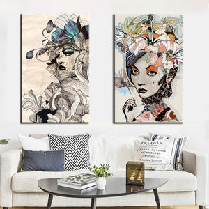 Modern Wall Art Sophia with Colorful Flowers Oil Painting on Wall Canvas Pictures Home Decor For Living Room Gift Frameless - SallyHomey Life's Beautiful